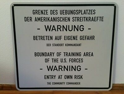 US Army Schild Militär Reforger cold war U.S. Armee Military ration mci Forces