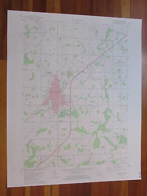 Charlotte Michigan 1981 Original Vintage USGS Topo Map