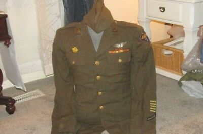 WWII US Army Air Force FAR EAST ~ Enlisted Man's Tunic - Size 37L & Garrison Hat