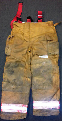 42x32 Pants Firefighter Turnout Bunker Fire Gear Securitex S305 +Suspenders P773