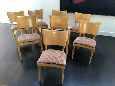 Heywood-Wakefield Stingray dining chairs, set of 8, includes two armchairs