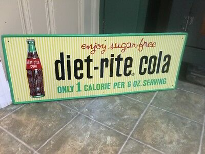 Nice Diet Rite Cola Advertising Sign