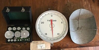 Vintage Toledo Scale 1963 Model 2110 Weight Calibration Kit Included Scoop Mint