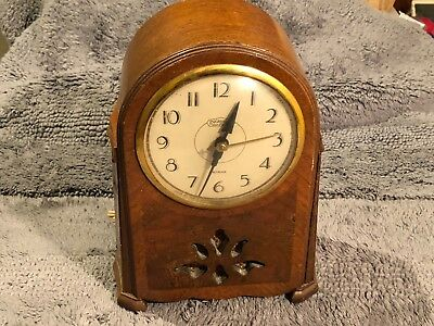Vintage  E . Ingraham Mantel Clock Made In Ct  Does Not Work For Parts