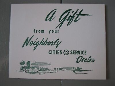 CITIES SERVICE DEALER Promotional Gift 4 Car Prints Autocar Maxwell Studebaker