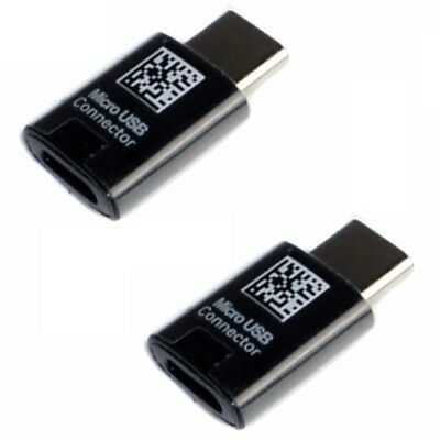 2x Genuine Samsung Galaxy S8 , S8 Plus Micro USB To Type-C Adapter Converter