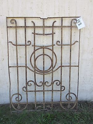 Antique Victorian Iron Gate Window Garden Fence Architectural Salvage Door #148