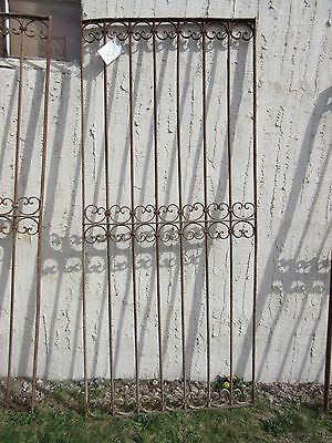 Antique Victorian Iron Gate Window Garden Fence Architectural Salvage Door #351