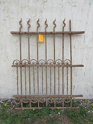 Antique Victorian Iron Gate Window Garden Fence Architectural Salvage Door #303