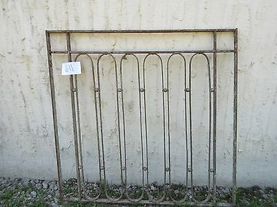 Antique Victorian Iron Gate Window Garden Fence Architectural Salvage Door #611