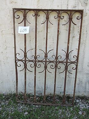 Antique Victorian Iron Gate Window Garden Fence Architectural Salvage Door #608
