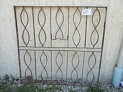 Antique Victorian Iron Gate Window Garden Fence Architectural Salvage Door #629