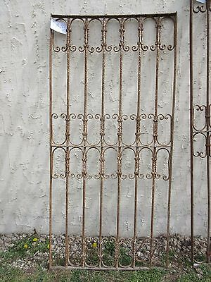 Antique Victorian Iron Gate Window Garden Fence Architectural Salvage Door #333