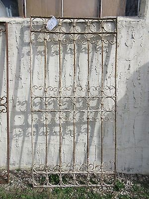 Antique Victorian Iron Gate Window Garden Fence Architectural Salvage Door #347