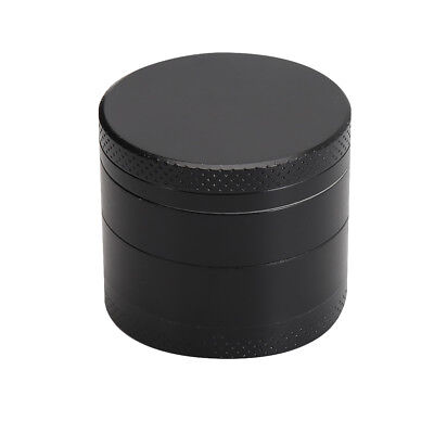 Black 4 Layer Metal Tobacco Crusher Smoke Herbal Herb Grinder Hand Muller CH