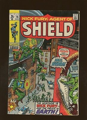 Nick Fury Agent of SHIELD 16 FN 5.5 * 1 Book Lot * HYDRA! Stan Lee & Jack Kirby!