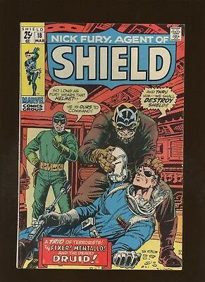 Nick Fury Agent of SHIELD 18 FN 5.5 * 1 Book Lot * HYDRA! Stan Lee & Jack Kirby!