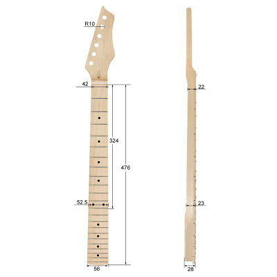 22 Fret Right Handed Electric Guitar Neck for ST Style Parts Replacement Maple