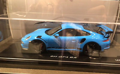 Spark 2015 Porsche 911 (991) GT3 RS Blue w/ Display LE of 500 1/18 Scale. New!