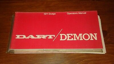 1971 Dodge Dart/Demon Owners Manual w/Extras Like New! See Pics