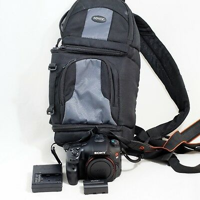 Sony Alpha SLT-A65 24.3 MP Digital SLR Camera Black Body ONLY 2K SHUTTER COUNT