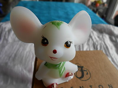Holly, The Little Christmas Mouse - FENTON OPAL SATIN GLASS  - NIB - RARE!