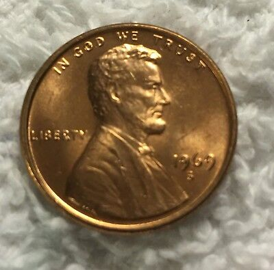 1969-S Lincoln Cent Unc From Obw Roll From Old Safe Collection Wow Look
