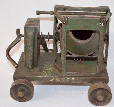 Antique Buddy L Hand Crank Cement Mixer on Wheeled Cart: It is all st... Lot 261