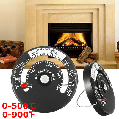 Aluminium alloy 0-500℃, 0-900℉ Kitchen Cooking Oven Stove Fireplace Thermometer