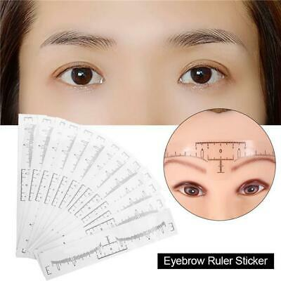 Disposable Eyebrow Brow Stencil Measure Ruler Makeup Tattoo Stereotypes Tool JA