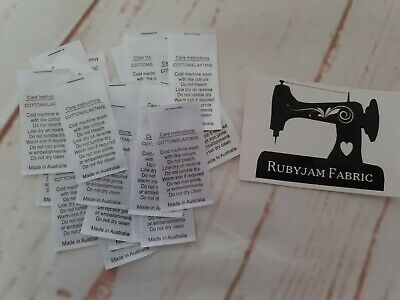 100 pack white Cotton Elastane Lycra satin care labels sew in FREE POST from AU