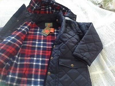 john lewis boy navy quilted jacket  8yrs ( detachable hood)