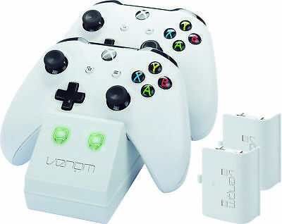 Venom Xbox One Twin Charging Station & Battery Packs - White - VS2859R