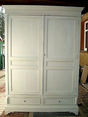 kleiderschrank antik shabby chic um 1900 eur 695 00. Black Bedroom Furniture Sets. Home Design Ideas