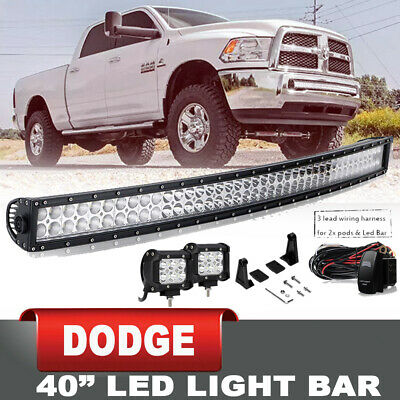 """42"""" 240W Combo Straight Led Light Bar Offroad JEEP Boat Car SUV w/Wiring Harness"""
