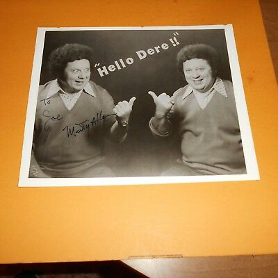 Marty Allen is an American comedian, actor, + veteran of WWII Hand Signed Photo
