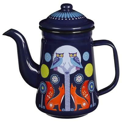 Night Enamel Coffee Pot in the Folklore Collection by Wild & Wolf