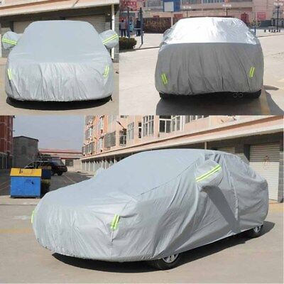PVC Waterproof Full Car Cover Breathable Protect Indoor Outdoor- Large 183 Inch