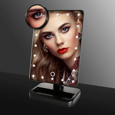 10X Lente dingrandimento Touch Screen Specchio per il trucco Make-up 20 LED