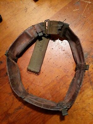 Rare Early Original WW2 U.S. Army Helmet Liner Sweatband w/ O.D. Clips
