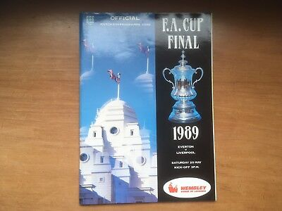 Everton v Liverpool 1989 FA Cup Final Programme