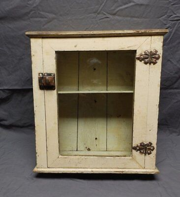 Antique Wood Surface Mount Medicine Cabinet Vintage Shabby Old Chic 126-18P