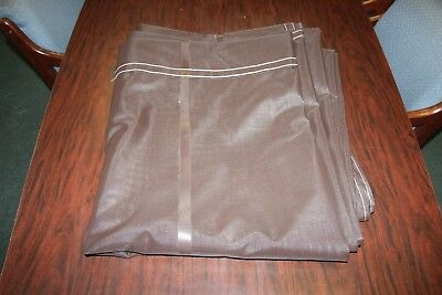 "NEW Brown Mesh Tarp - 84""x14' Straight  Tarp,"