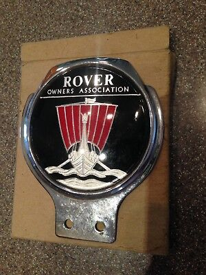 Rover Owners Grill Badge Viking Ship