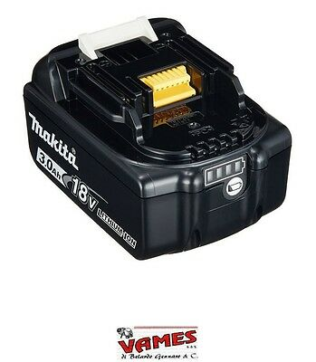 "Batteria Makita Litio 18V 3Ah ""originale""  Con Led Indicatore Di Carica Bl1830B"