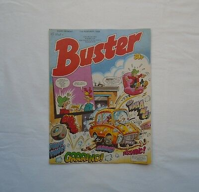 Buster Comic 11th February 1989 - Melvyns Mirror / My Dad Mum / Vid Kid / Ivor &