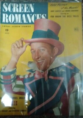 "Screen Romances Aug. 1943 Bing Crosby & Dorthy Lamour ""Rare"""
