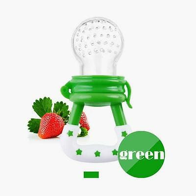 Baby Bite Teether Pacifier Food Supplement Fruits Vegetable Kids Feeder Green DI