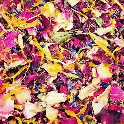 Red Yellow Blue Real Petal Biodegradable Wedding Confetti 1 Litre 12 Guests