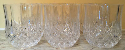 """Cristal D'Arques """"Longchamp"""" Crystal Double Old Fashioned Tumblers/glasses – 6"""